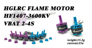 HGLRC Flame HF1407 1407 3600KV 2-4S Brushless Motor for Mini Racing Drone